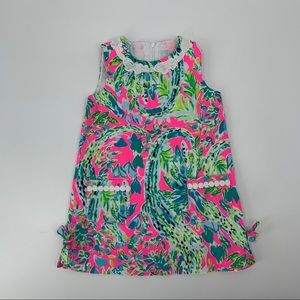 Lilly Pulitzer Toddler Girls Shift Dress  Size 3T